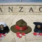 Operation Gallipoli 2013, NZDF Contingent Support to ANZAC Day Commemorations in Turkey. NZDF Hats at ACS and on ANZAC Cove.
