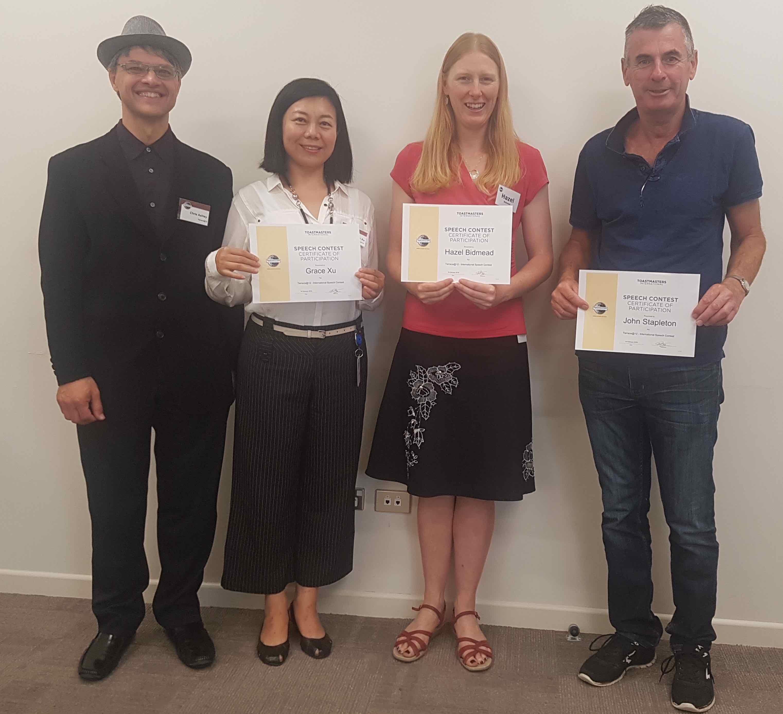 2018 International Speech Contest Report