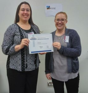 Congratulations Nicole – Level 1 Pathways