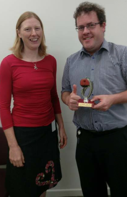 Congratulations Brad -Toastmaster of the day