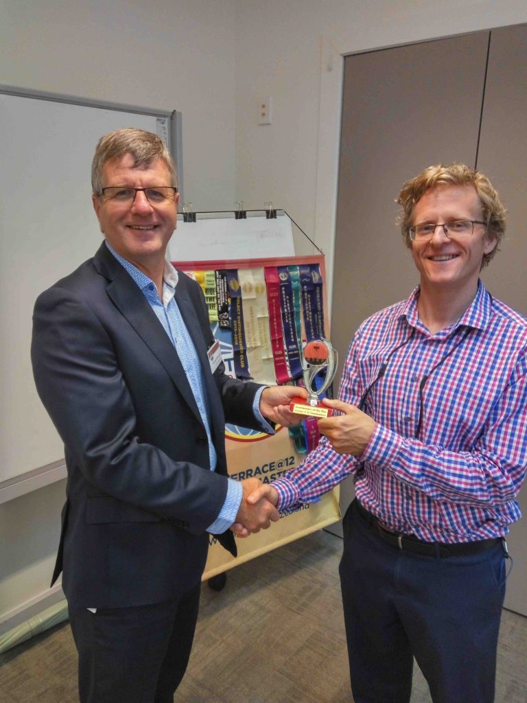 Congratulations Chris John Knight – Toastmaster of the day