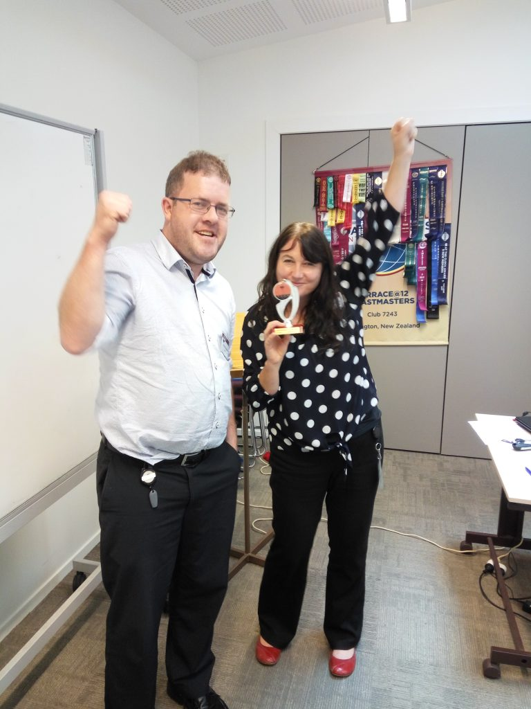 Congratulations Marion H – Toastmaster of the day