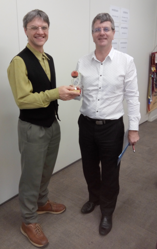 Congratulations Chris – Toastmaster of the Day