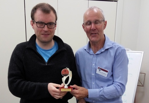 Congratulations Thomas – Toastmaster of the day