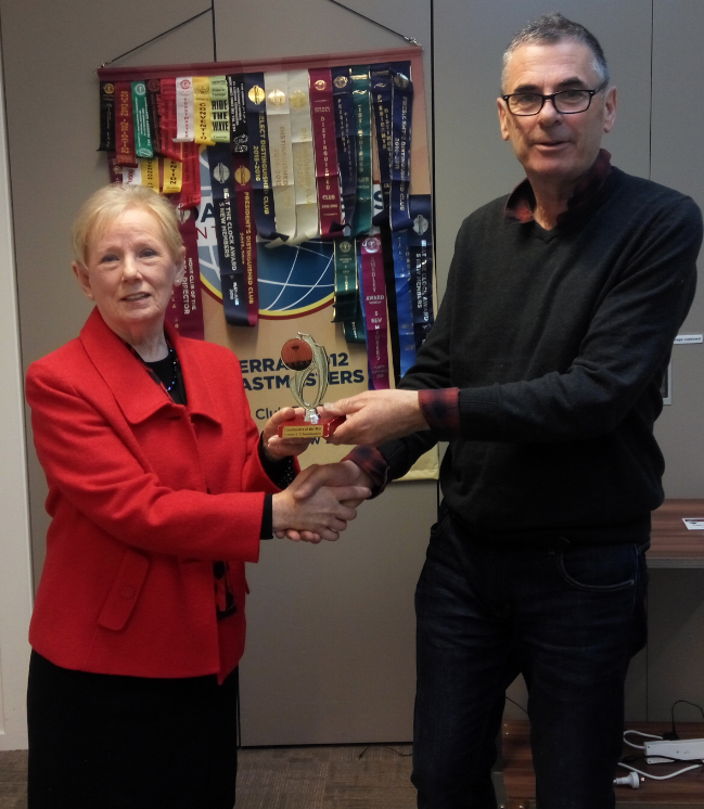 Congratulations Pauline – Toastmaster of the day