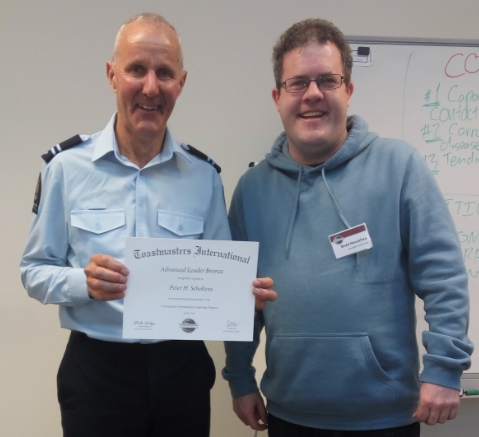 Congratulations Peter – Advance Leaders Bronze award