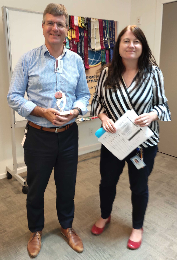 Congratulation to Richard – Toastmaster of the day