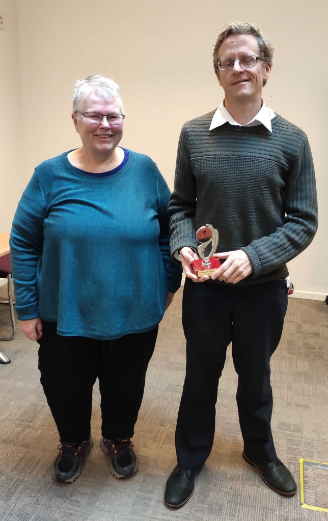 Congratulations to Chris K – Toastmaster of the day