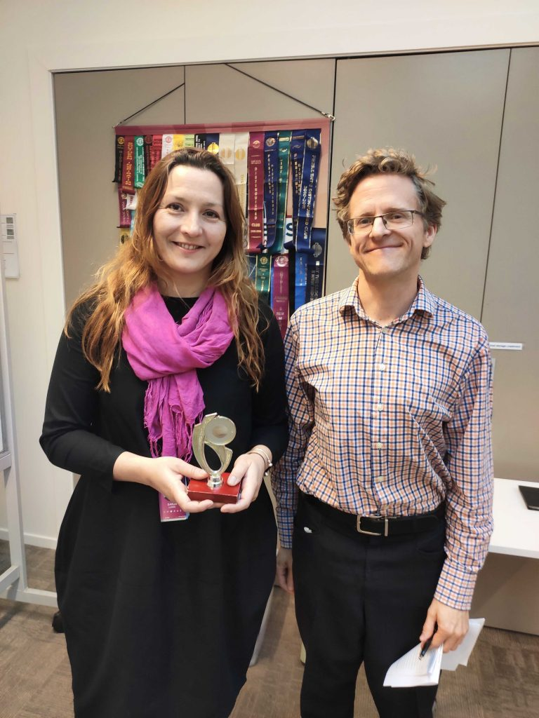 Congratulations to Sanja – Toastmaster of the day