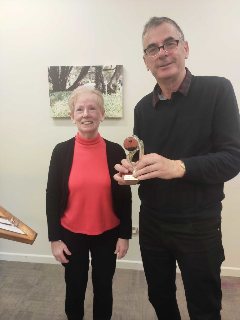 Congratulations to John – Toastmaster of the day