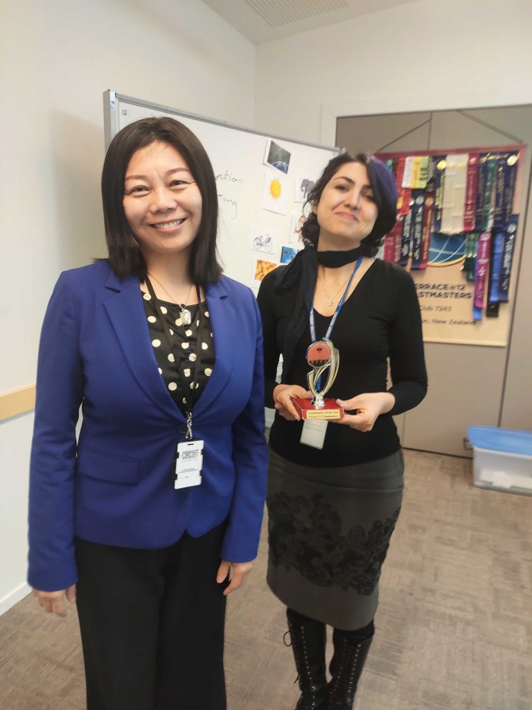 Congratulations to Mona – Toastmaster of the Day