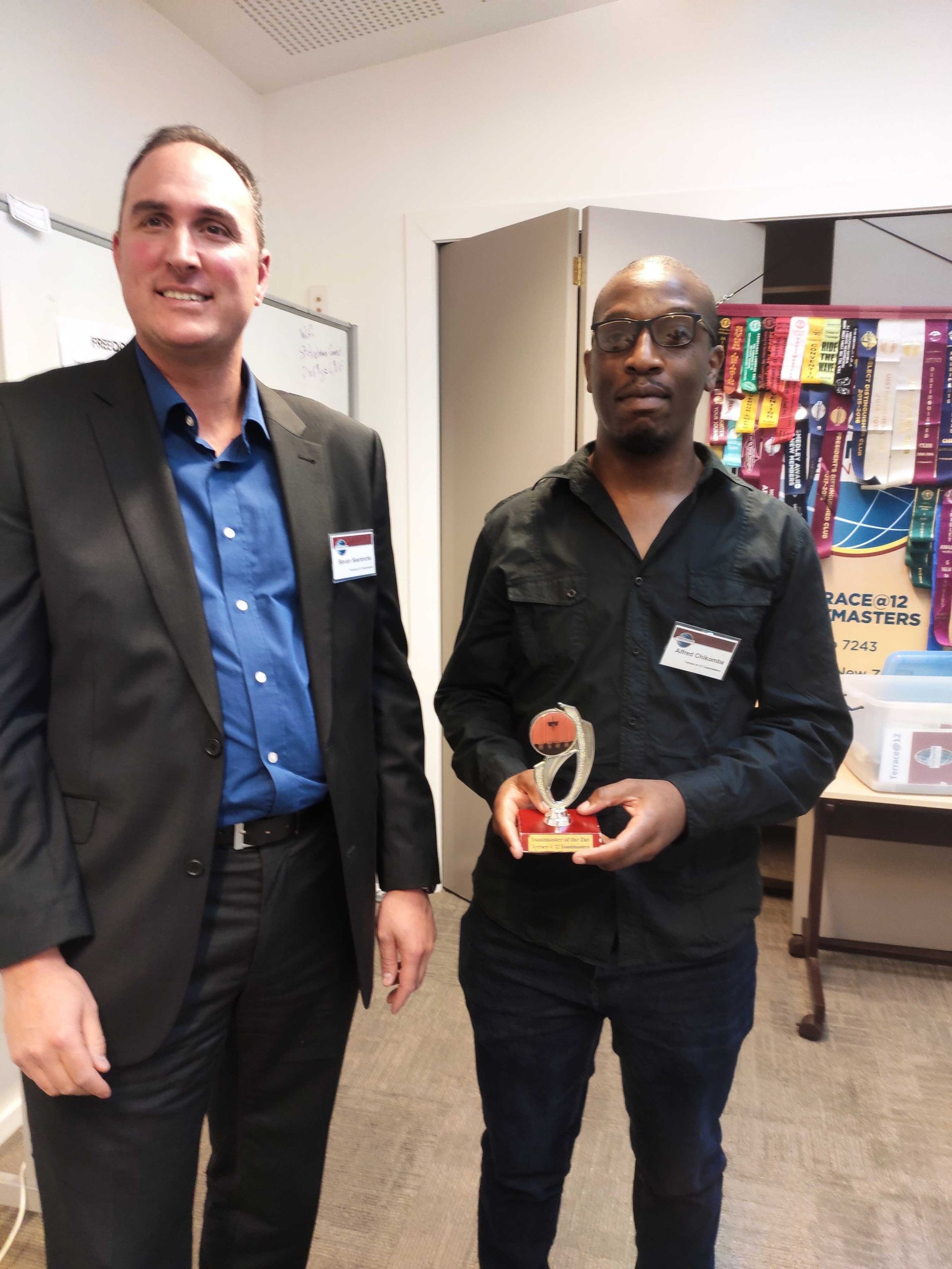 Congratulations Alfred – Toastmaster of the day