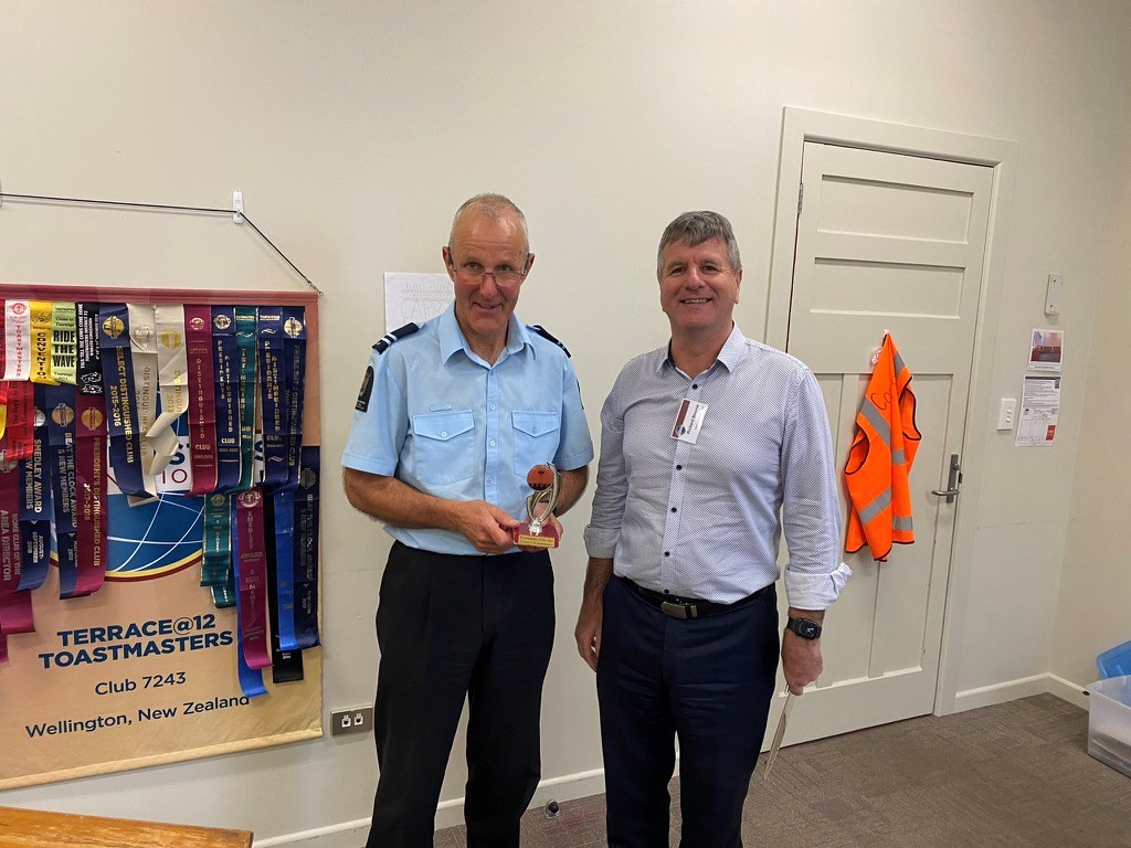 Congratulations to Peter Toastmaster of the Day
